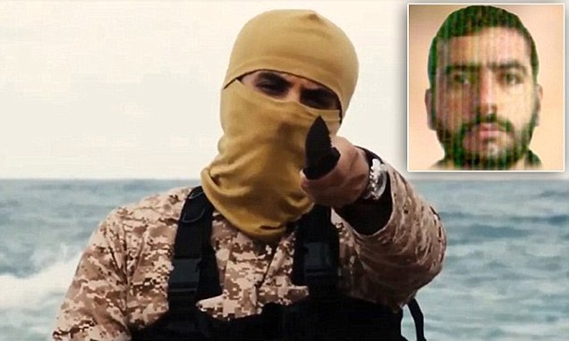 Is Libyan beach executioner an American recruit? Experts claim ISIS jihadi spoke with U.S. accent picked up by spending a 'significant amount of time' in the country Militant led beheadings of 21 Egyptian nationals in horrific ISIS video U.S. intelligence chiefs analysing his facial features and speech patterns  Experts say he 'sounds like an American' with some Arabic influence