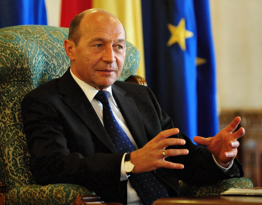 Presedintele Traian Basescu participa la intalnirea cu reprezentantii comunitatilor romanesti din Ucraina, la Palatul Cotroceni, miercuri, 24 iunie 2009. BOGDAN MARAN / MEDIAFAX FOTO
