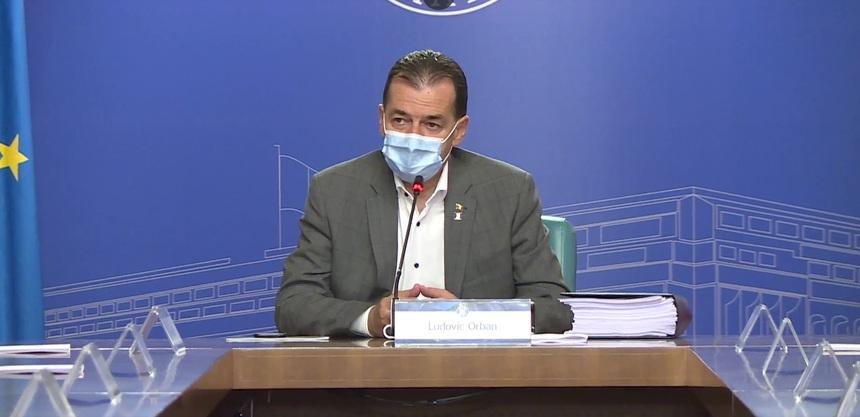 Ludovic Orban este negativ la al doilea test de COVID. Premierul va participa joi la şedinţa de Guvern