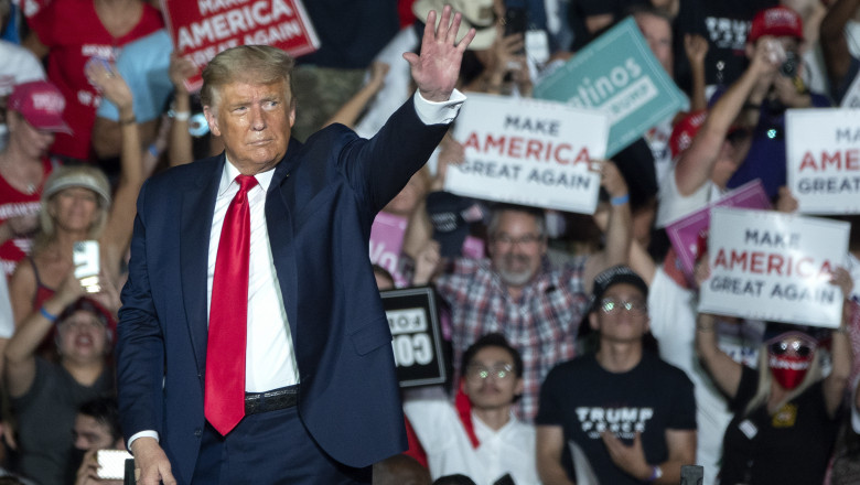 Trump a revenit, în forță la mitingurile electorale, după ce s-a vindecat de COVID