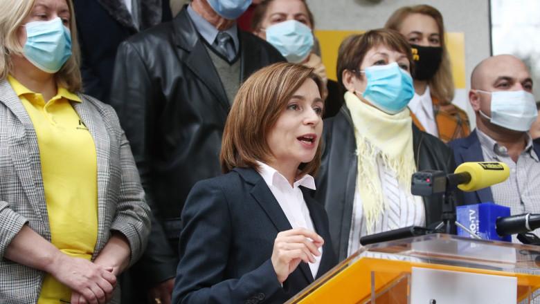Maia Sandu acuză încercări de fraudare la alegerile din Republica Moldova