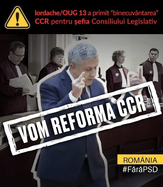 CCR a respins sesizarea privind numirea lui Iordache