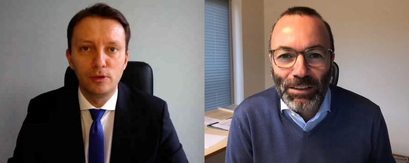 Manfred Weber și Siegfried Muresan