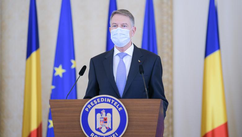 Presedintele romaniei Iohannis ne sfătuiește, de sărbători, să respectăm restricțiile, pentru a nu ajunge la spital