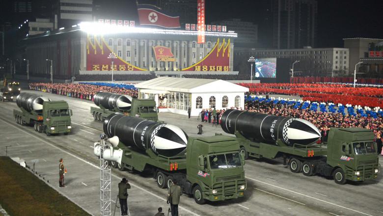 Coreea de Nord a fost pezentat ultimul model de rachetă balistică