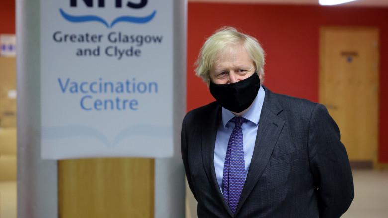 Boris Johnson a intrat în Scoția
