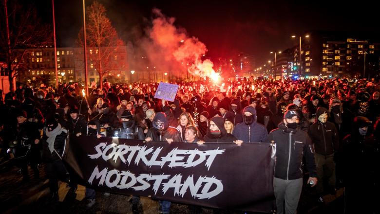 În Danemarca, proteste față de măsurile anti COVID