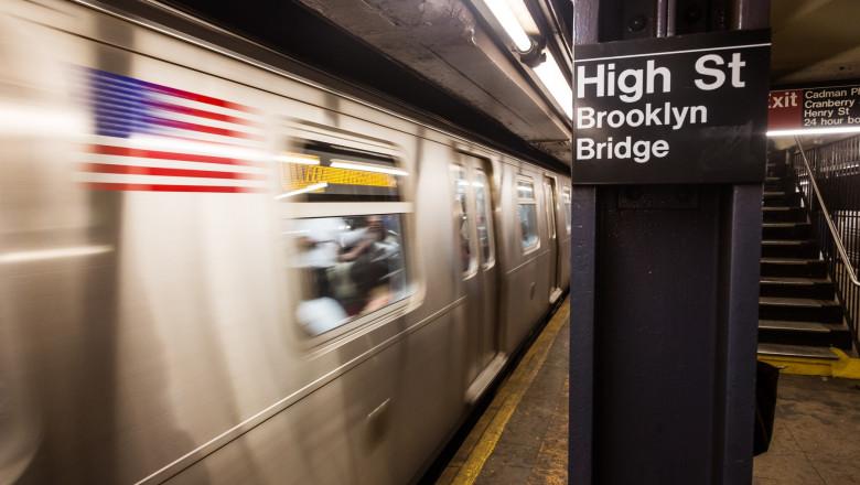 În metroul din New York