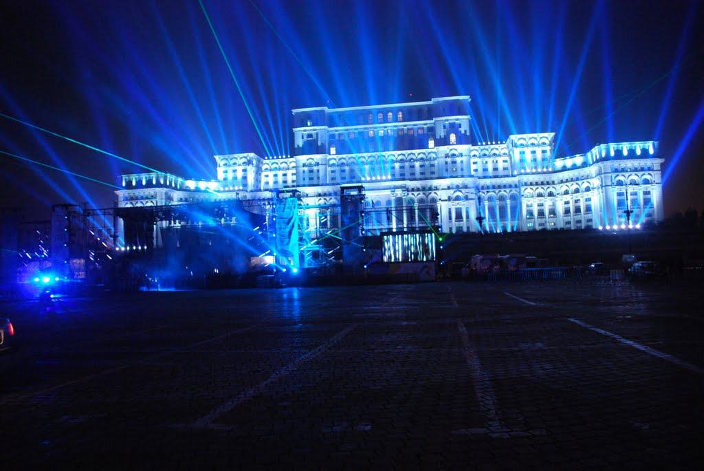 Euro 2021, celebrat prin iluminarea clădirii Parlamentului