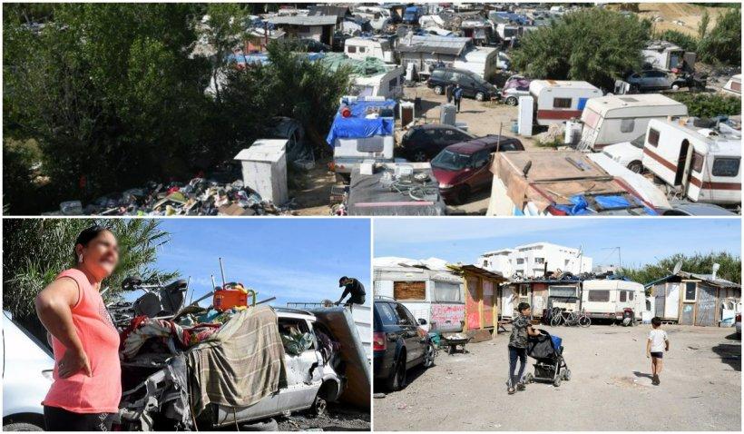 Copiii majoriatea români populează mahalalele Franței