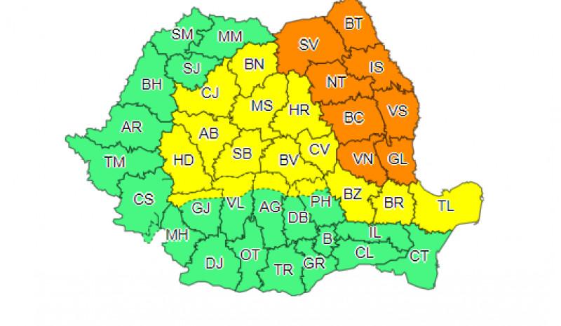 Temperaturi de 41 de grade și furtuni violente în jumătate de țară. Cod portocaliu și galbene anunță meteorologi